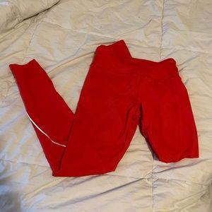 Full length forever 21 activewear red leggings